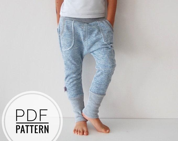 Blue harems sewing pattern