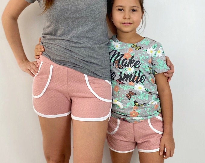 Mommy and me retro shorts sewing pattern