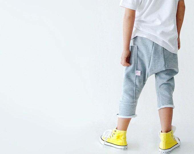 Kids drop crotch pants