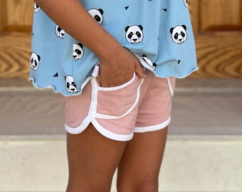 Children retro shorts sewing pattern