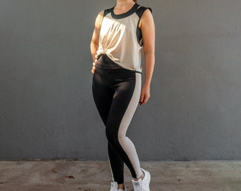 Fitness set leggings and tank top sewing pattern