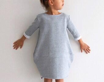 Girls oversized sweatshirt dress sewing pattern
