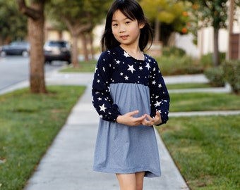 Blossom girls dress sewing pattern