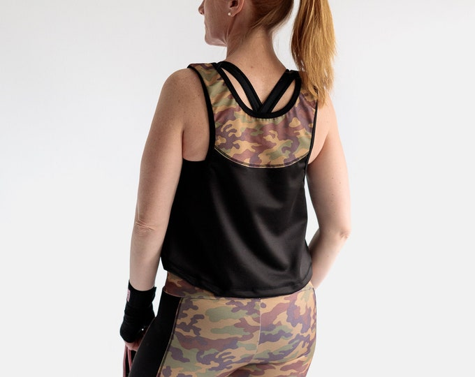 Featured listing image: Fitness tank top sewing pattern
