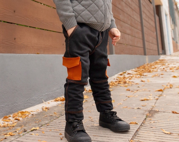 Featured listing image: Kids cargo jogger sewing pattern