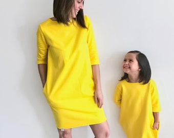 Mommy and me sweater dress sewing pattern