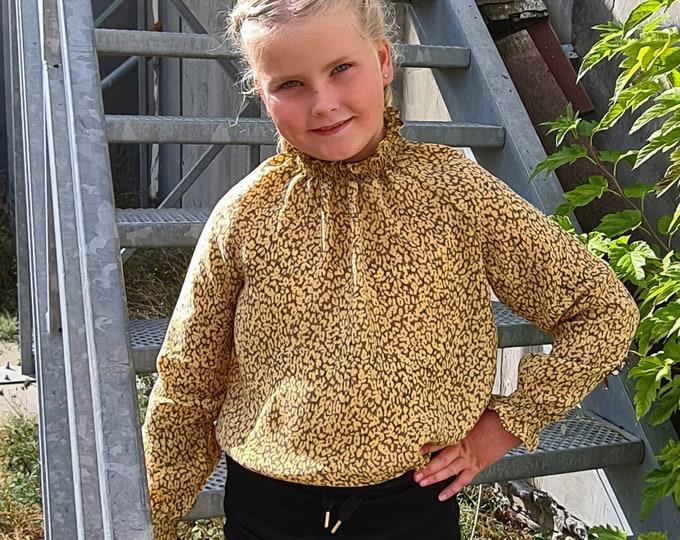 Raglan blouse sewing pattern