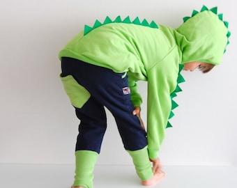 Dinosaur hoodie sewing pattern