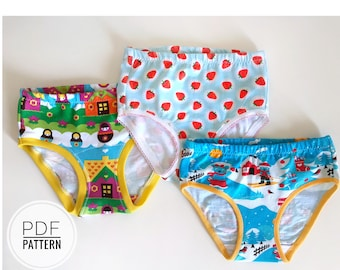 Girls brief sewing pattern