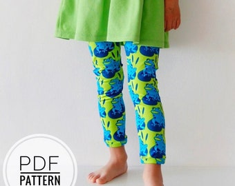 Speedy kids leggings sewing pattern