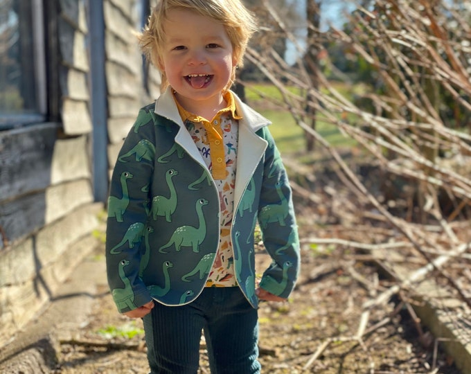 Featured listing image: Lounge jacket sewing pattern