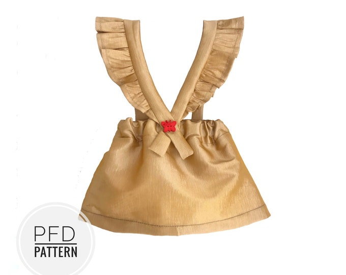 Girls pinafore dress sewing pattern