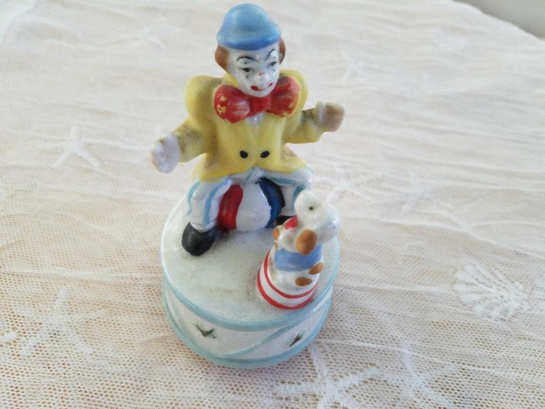 Revolving Musical Clown Figurine