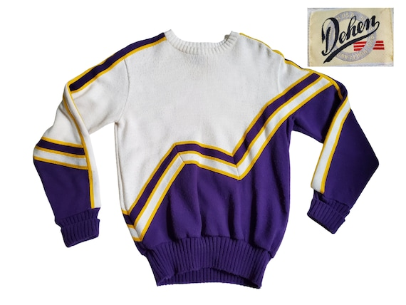 Retro 50s Cheerleading Varsity Knit Sweater, Vinat