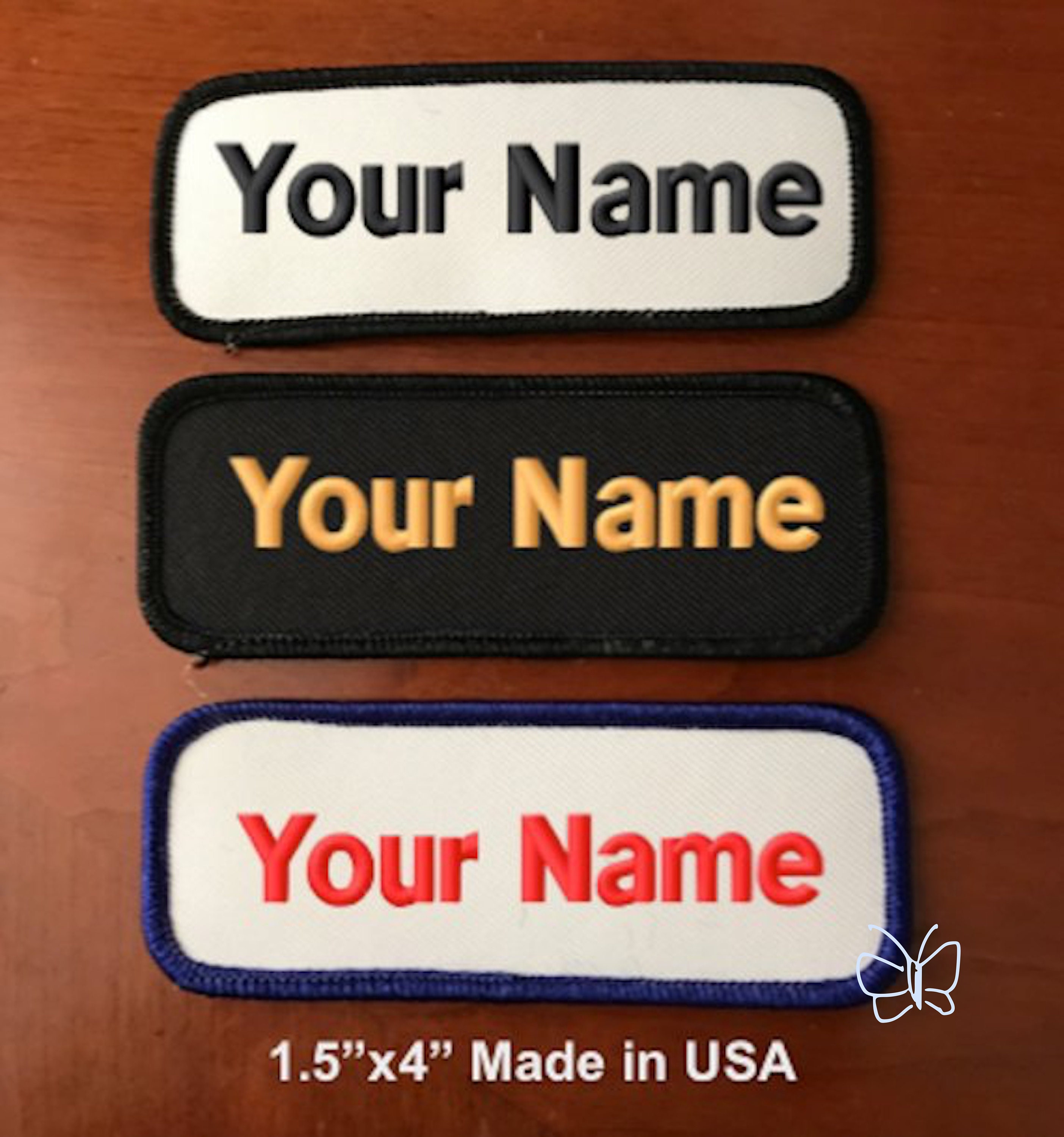 feb17c59a25a Custom Embroidered Patch Personalized Name Tag Motorcycle Biker Badge  1.5
