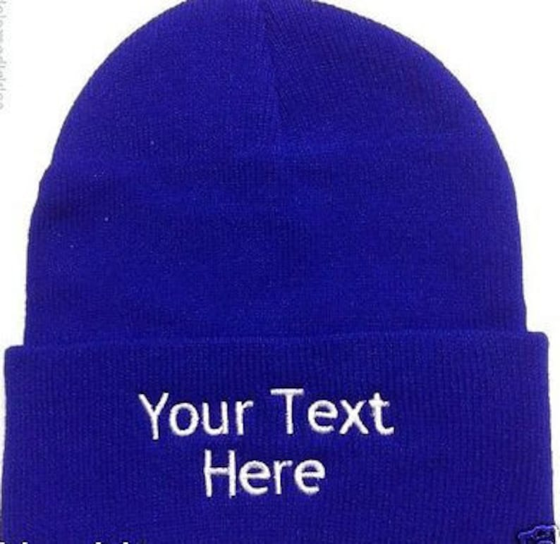 032324c23fb31 Custom Embroidery Personalized Embroidered Name Beanie Knit