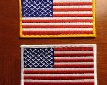 """American Flag Patches 2""""x3.5"""""""
