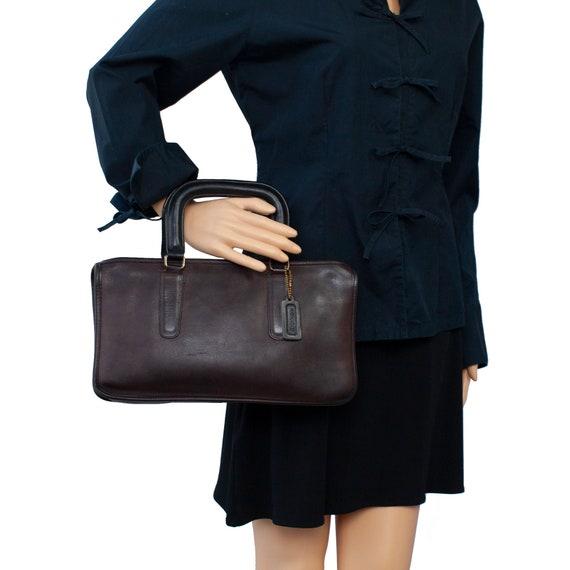 COACH VINTAGE Brown Leather Bonnie Cashin Bag - image 2
