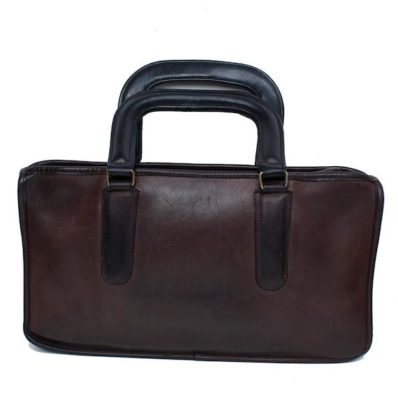 COACH VINTAGE Brown Leather Bonnie Cashin Bag - image 4