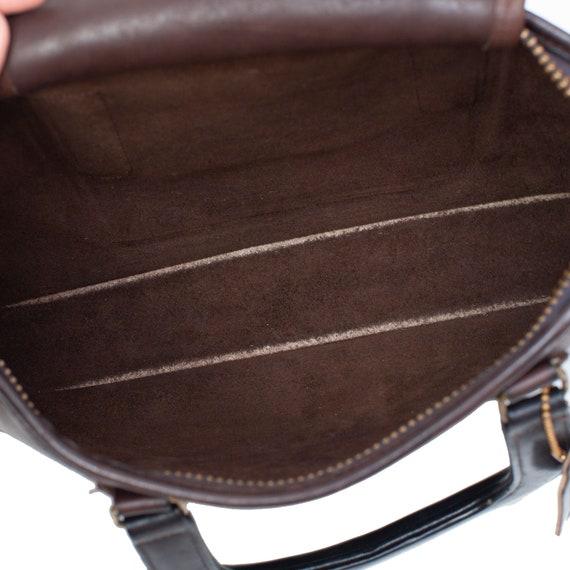 COACH VINTAGE Brown Leather Bonnie Cashin Bag - image 8