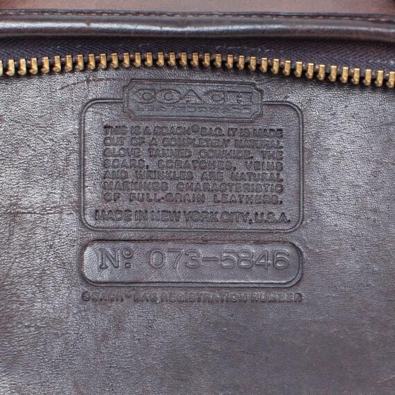 COACH VINTAGE Brown Leather Bonnie Cashin Bag - image 9