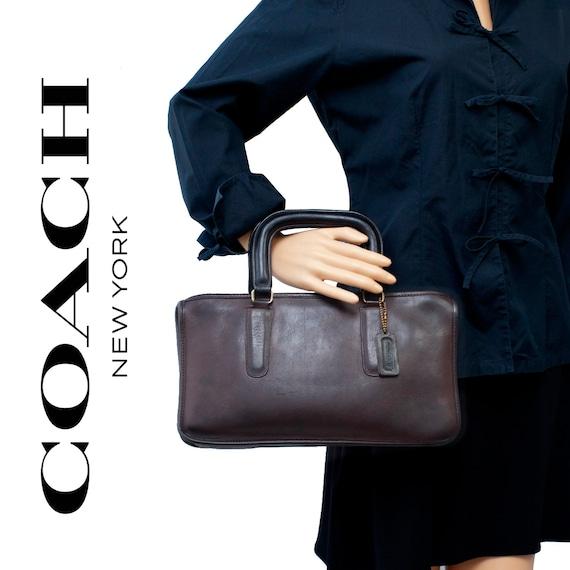 COACH VINTAGE Brown Leather Bonnie Cashin Bag - image 1