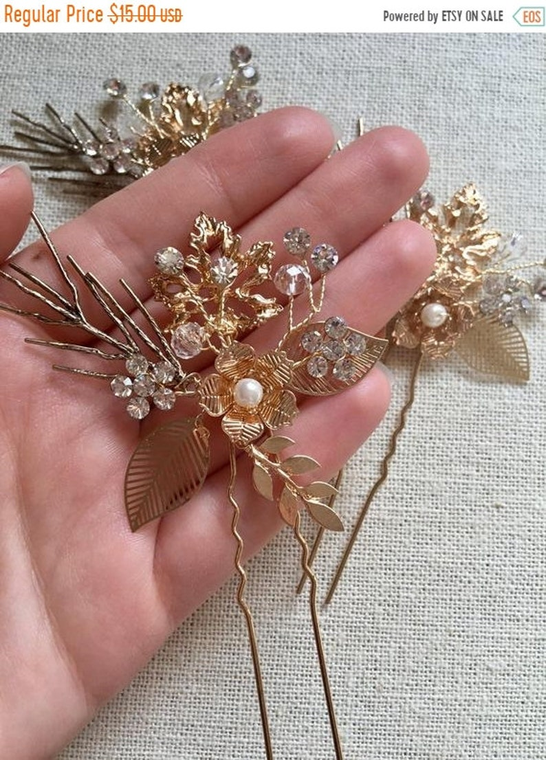 ON SALE 50% OFF Bridal Hair Pins Bridal Hair Accessories image 0