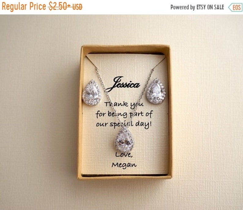 ON SALE 50% OFF Bridesmaid Jewelry Custom Jewelry Box image 0