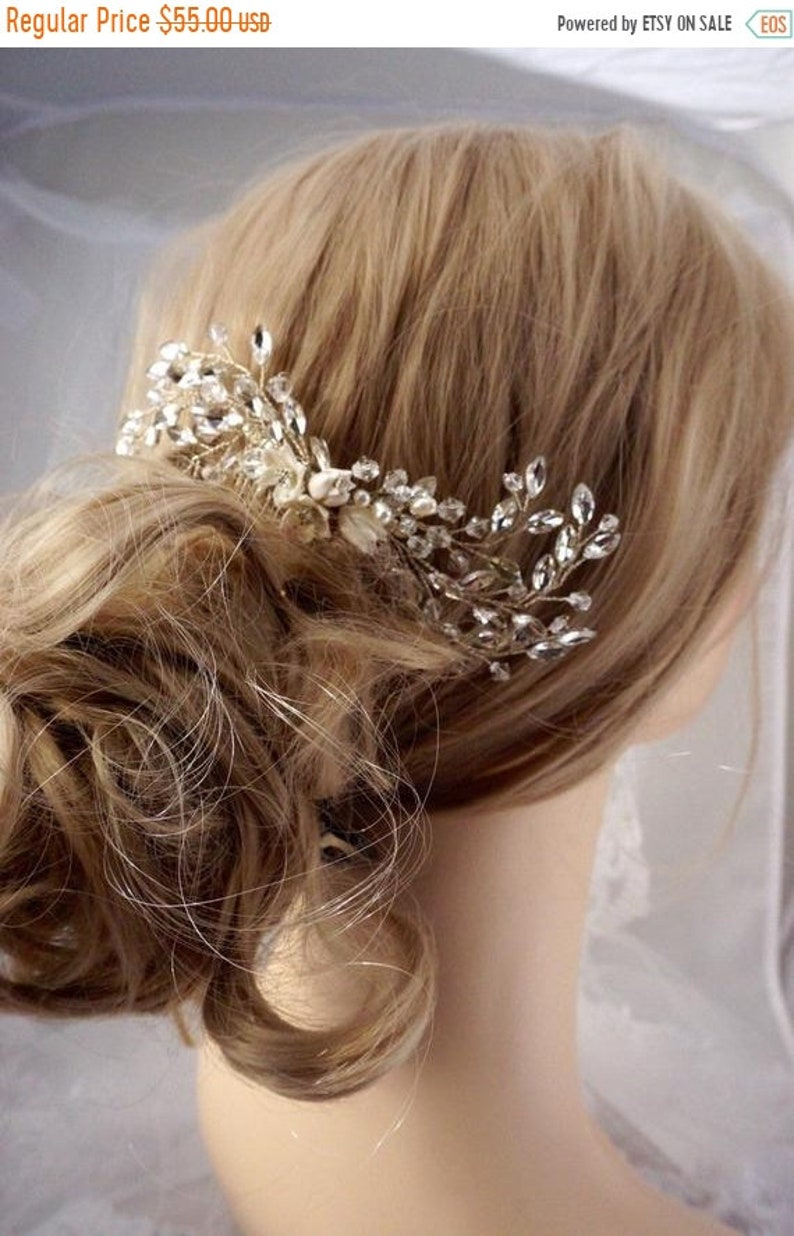 ON SALE 50% OFF bridal comb bridal hair comb. wedding hair image 0