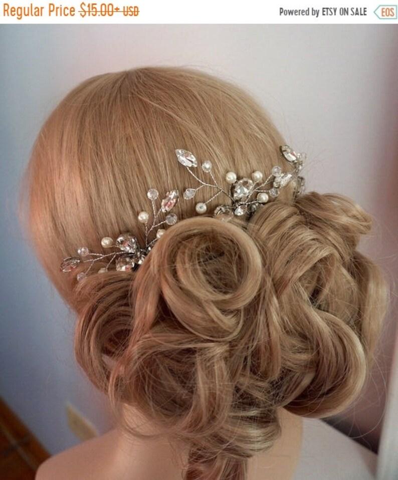 ON SALE 50% OFF bridal hairpins bridal hair pins bridal image 0