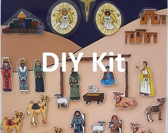 DIY Kit - Advent Calendar - Poster and Pieces in full color