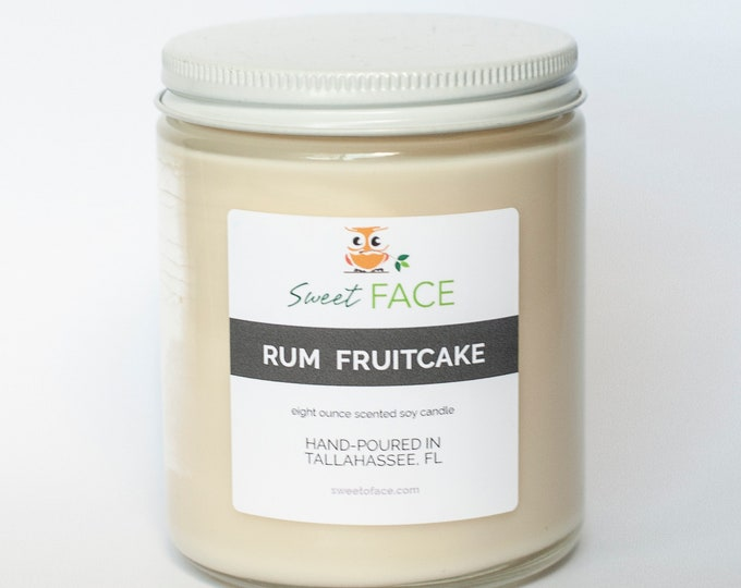 Rum Fruitcake Scented Soy Candle