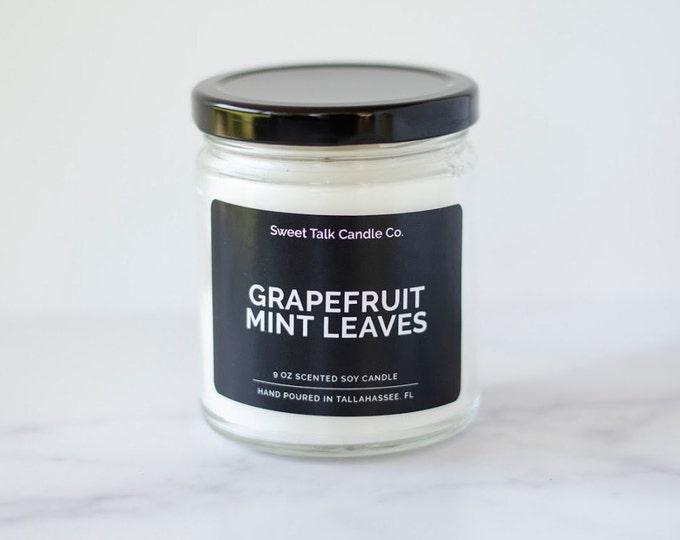Grapefruit + Mint Coconut Soy Massage Candle