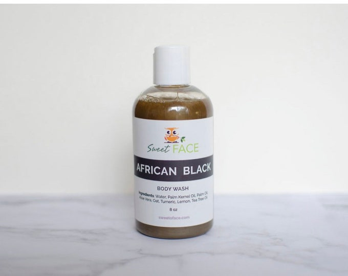 African Black Liquid  Soap