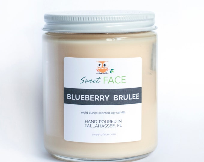 Blueberry Brulee Scented Soy Candle