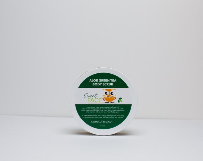 Green Tea Aloe Body Scrub