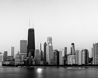 Chicago skyline, Landscape wall print, Chicago print, Wall art print, Large wall art, Chicago photography, City print, City photography