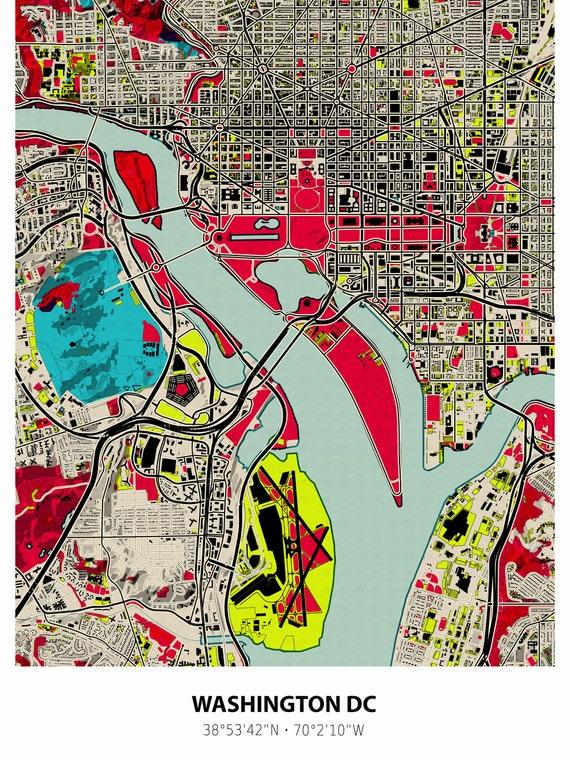 graphic regarding Printable Map of Washington Dc known as Washington dc map, Washington print, Washington map, Washington dc artwork, Map artwork, Washington metropolis, Map print, Washington DC, Map wall artwork,