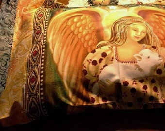 Golden Angel Sacred Spaces Pillowcase