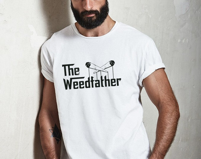 The Weedfather Graphic Tee White