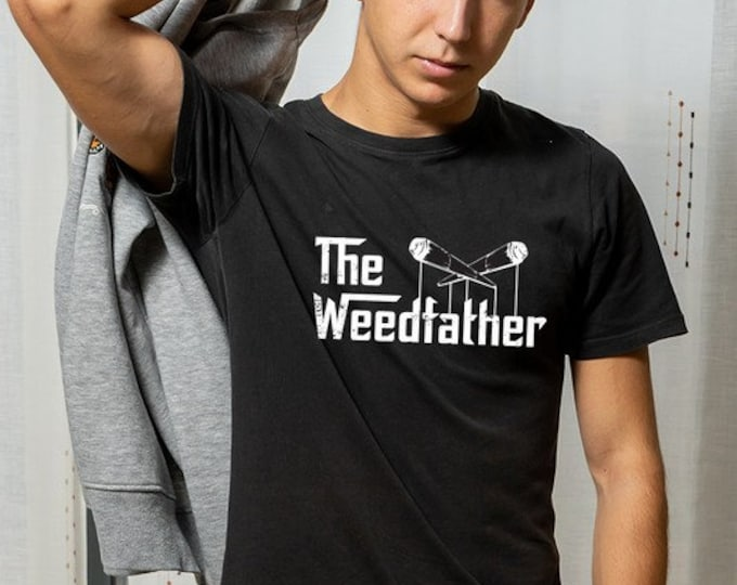 The Weedfather Graphic Tee Black