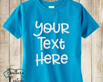 9fb2ed3ff Your Text Here Youth T-shirt, Custom Children's Tshirt, Custom Kids Shirt,  Design Your Own Shirt
