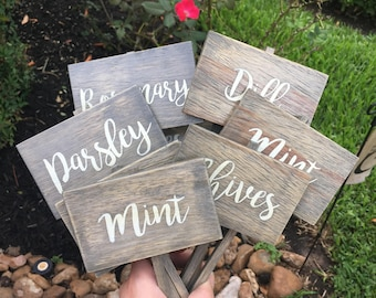 Herb Marker, Herb Sign, Herb Stakes, Garden Signs, Herb Garden, Spring Decor, Mint, Basil, Oregano, Cilantro, Plant Markers, Plant Signs