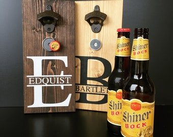 Personalized Bottle Opener, Beer Bottle Opener, Kitchen Decor, Gift for Him, Groomsman Gift, Housewarming Gift, Wedding Gift, Fathers Day