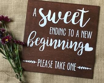 "Wooden Wedding Favor Sign, Wedding, Party, ""chalkboard"", Wedding Decor, Event Decor, Sweet Treat, Wedding Treat, Party Favor Sign"