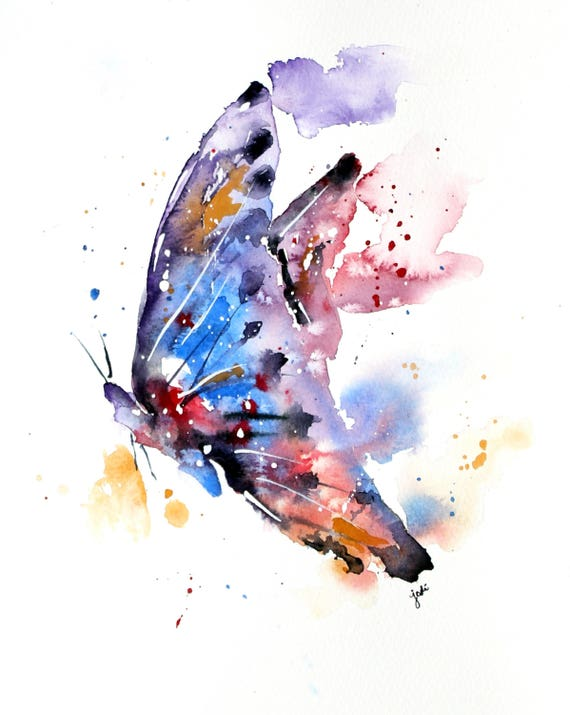 Butterfly Watercolor Print Butterfly Painting Butterfly Wall Hanging