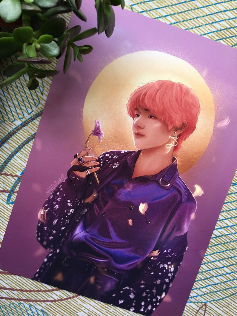 Taehyung - V - Singularity - A5/A4/A3 print - BTS fan art - Digital Art -  방탄소년단 - Bangtan Sonyeondan