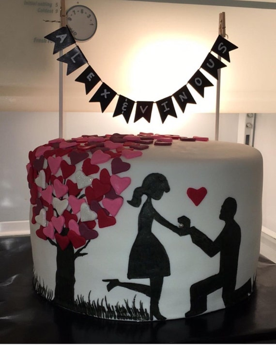 Will You Marry Me Cake Proposal Cake Down On One Knee Cake