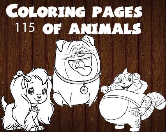 Disegni Da Colorare Bambini Animali.Disegni Da Colorare Di Animali Per I Bambini Piccoli Disegni Etsy