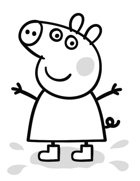 Peppa Pig Coloring Pages Printable For Children Of All Ages. Etsy